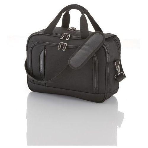 crosslite torba na ramię z miejscem na laptopa 21l schwarz - czarny marki Travelite