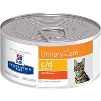 HILL'S PD Prescription Diet Feline c/d Multicare Kurczak 12 x 156g - puszka