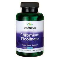 Pikolinian chromu Chromium Picolinate 200mcg 200 kapsułek SWANSON