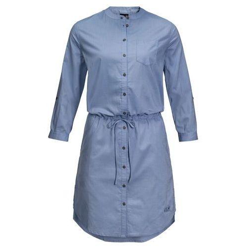 Jack wolfskin Sukienka indian springs dress dusk blue stripes - xs