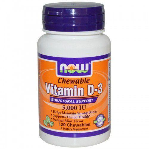 Witamina D3 5000IU 120 chewables (tabletki do żucia)