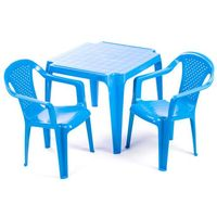 Grand soleil  stolik i dwa krzesła dla dzieci, niebieskie (8595105770061)