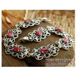 CATALINA - bransoletka z rubinem, kolor czerwony