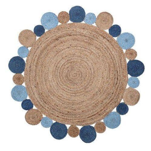 Dywanik Dziecięcy Z Juty 120 Cm Niebieski Bloomingville