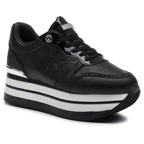 Sneakersy - hinders3 fl7hn3 ele12 black, Guess, 35-41