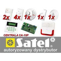Alarm  ca-10 lcd, 6xluna, 4xtopaz, tsd-1, fd-1, dg-1 tcm, syg. zew. sd-6000 marki Satel