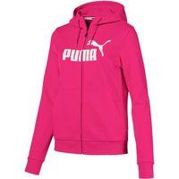 Puma Ess Logo Hooded Jacket Fl Beetroot Purpl S