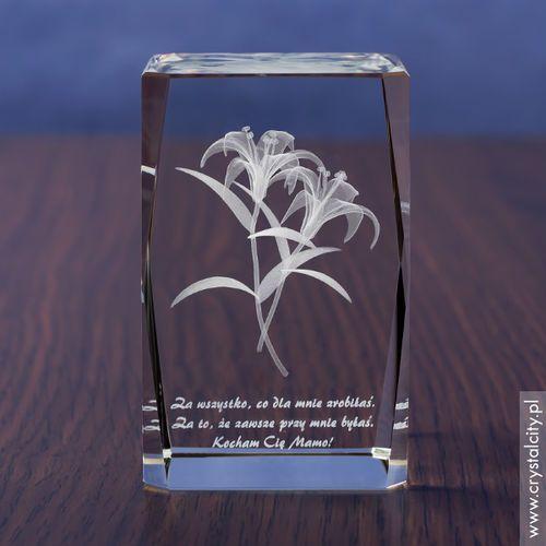 Lilie 3D z Twoją osobistą dedykacją w krysztale