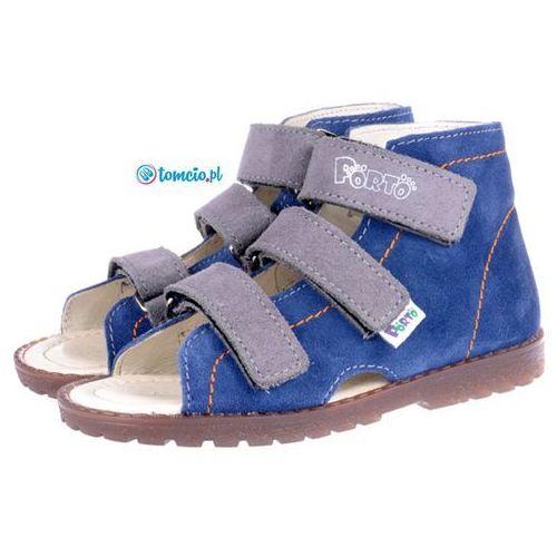 kapcie profilaktyczne Mrugała Porto - 11101210/1310, kolor 68 jeans/popiel