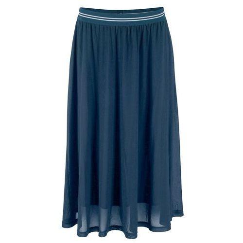 93ddd9a86bb1e0 Zobacz w sklepie Spódnica siatkowa z elastycznym paskiem ciemnoniebieski  Bonprix