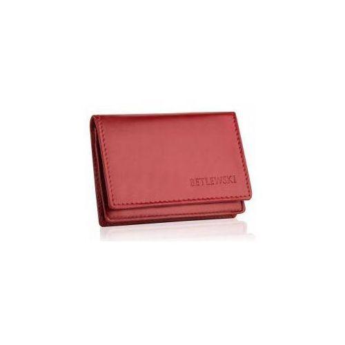 7bc92b7cc27c2 Zobacz ofertę Skórzany mały portfel etui na wizytówki betlewski bez-06  czerwony