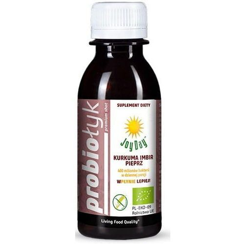 Suplement diety napój probiotyczny kurkuma imbir pieprz bio 125 ml - Joy day - Genialna promocja