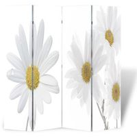 Vidaxl parawan/dzielnik pokojowy w kwiaty (160 x 180 cm) (8718475849148)
