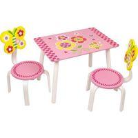 Krzesełka i stolik dla dzieci zestaw mebli leonor marki Small foot design