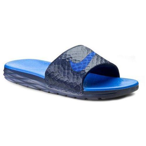 16662f49ef41e Klapki NIKE - Benassi Solarsoft Slide 2 705474 440 Midnight Navy/Lyon Blue,  kolor
