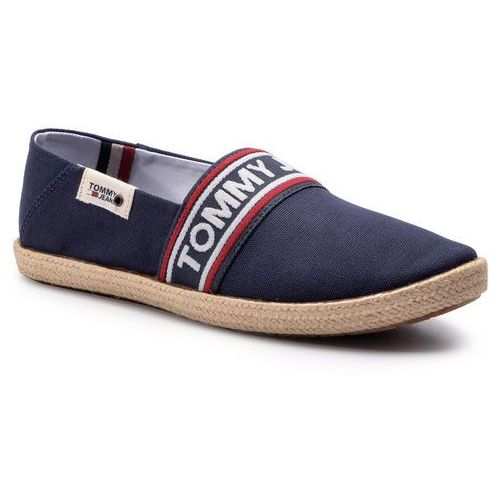 48e9c3077e990 Tommy Jeans Espadryle TOMMY JEANS - Stripe Summer Shoe EM0EM00222 Ink 006