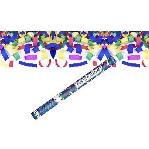 Tuba strzelająca - konfetti i serpentyny metaliczne - 60 cm - 1 szt.