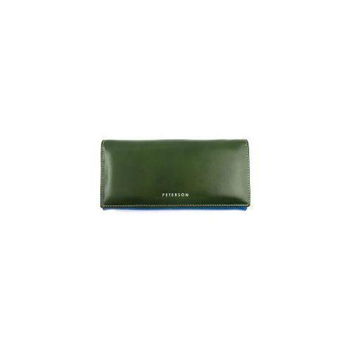 708f7b6c5575d Zielono-niebieski damski portfel skórzany PL 435 Z (PETERSON ...