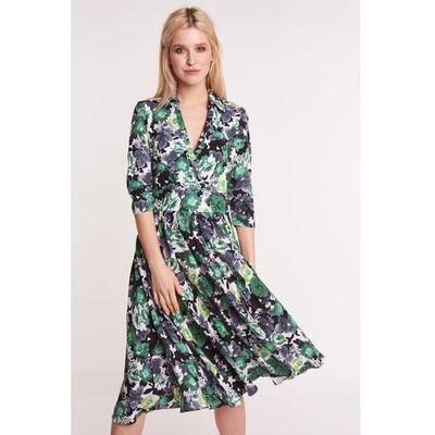 e36621b0 suknie sukienki kobieca sukienka rozkloszowana w kwiaty na wesele ...