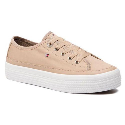 d5dbe26b50d93 Tenisówki - corporate flatform sneaker fw0fw02456 desert sand 932 marki Tommy  hilfiger