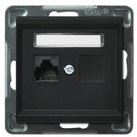 Gniazdo 1xRJ45, kat. 5e, MMC czarny GPK-1R/K/m/33 SONATA, GPK-1R/K/m/33/OSP