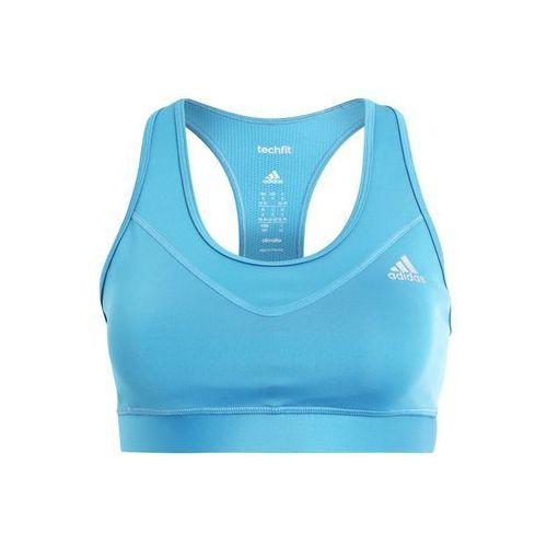 Adidas Performance TECHFIT SOLID Biustonosz sportowy tactile steel/matte silver