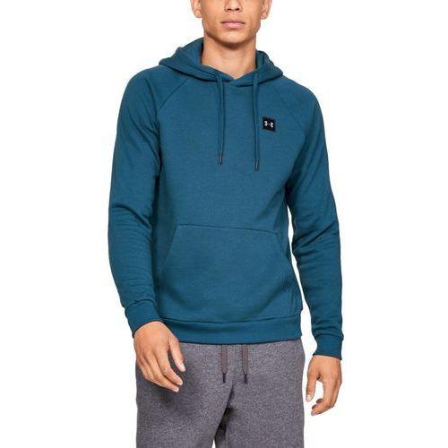 Under armour bluza z kapturem rival fleece po hoodie niebieska - morski
