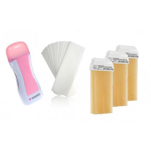 Zestaw do depilacji wosk miodowy 3szt paski 50 szt Premium textile
