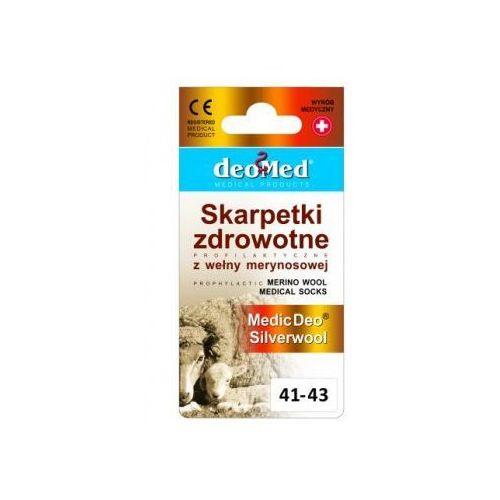 Jjw (polska) Skarpety zdrowotne z wełną z merynosów i jonami srebra medic deo silverwool