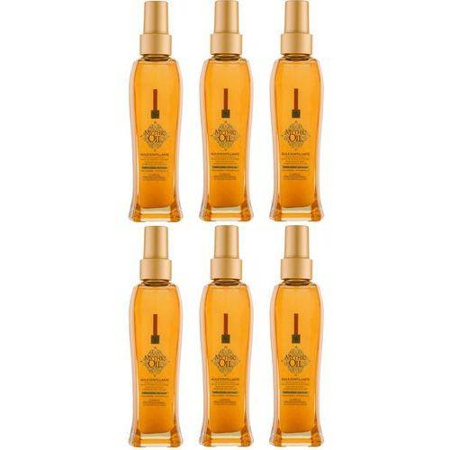 Loreal Zestaw Mythic Oil Shimmering Oil - olejek do włosów i ciała z opalizującymi drobinkami 100ml x6