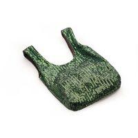 Urocza mała torebka z cekinami - zielona