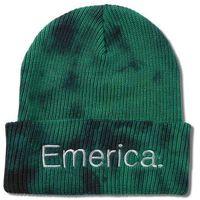 czapka zimowa EMERICA - Tied Cuff Beanie Green/Black (310)