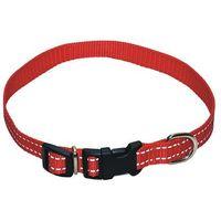 CHABA Obroża odblaskowa nr 20 dla psa czarna/czerwona