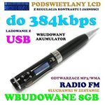 Als Dyktafon/rejestrator dźwięku ukryty w długopisie (poj. 8gb) + radio + lcd + słuchawki...
