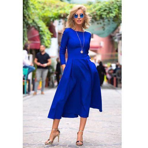 Sukienka JASMINA BLUE, kolor niebieski