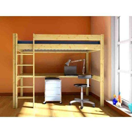 łóżko Piętrowe Antresola Z Materacem 190x80biurko