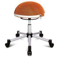 Krzesło dla zdrowych pleców half ball, krzyż metalowy, pomarańczowa marki Topstar