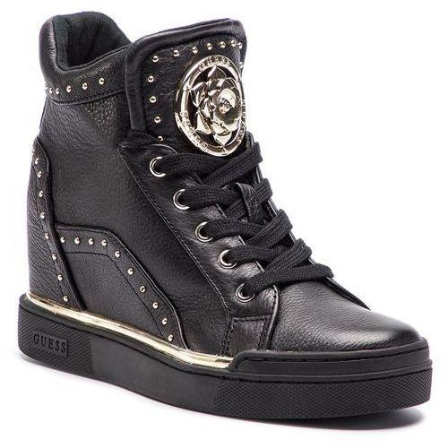 Masywnie ▷ Sneakersy - finer2 fl5fr2 lea12 black (Guess) - ceny,rabaty XV47