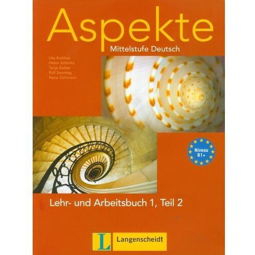 Aspekte 1 B1+ Lehr und Arbeitsbuch Teil 2 z płytą CD - książka (200 str.)