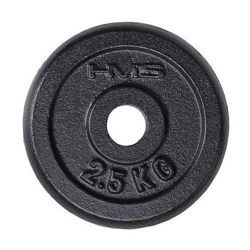 Hms Obciążenie talerz czarny tcz02 2,5 kg - 2,5 kg