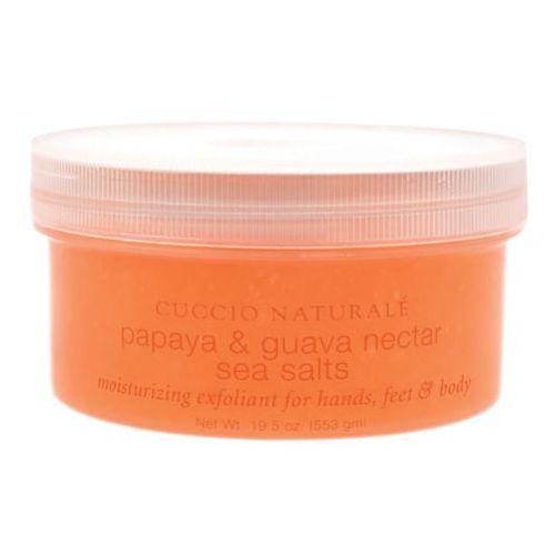 Cuccio PAPAYA & GUAVA NECTAR SEA SALT Sól morska papaja i nektar z guavy (553 ml)