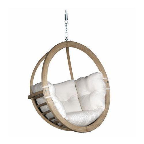Fotel Wiszący Drewniany Bubble Wood Ecru