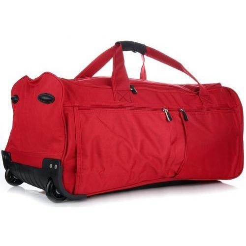 c26db259dee58 Torby Podróżne David Jones XL Na Kółkach ze Stelażem Duża Solida i  Wytrzymała Czerwona (kolory