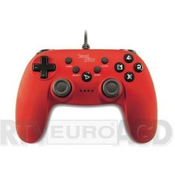Steelplay manette filaire - metallic red ps3/pc