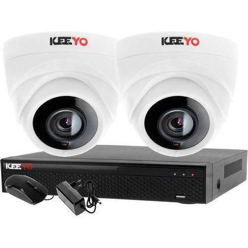 Monitoring 2 kamery zestaw do monitoringu firmy biura rejestrator 4 kanałowy LV-XVR44N-II 2x kamera LV-AL1M2FDPWH, ZM7482