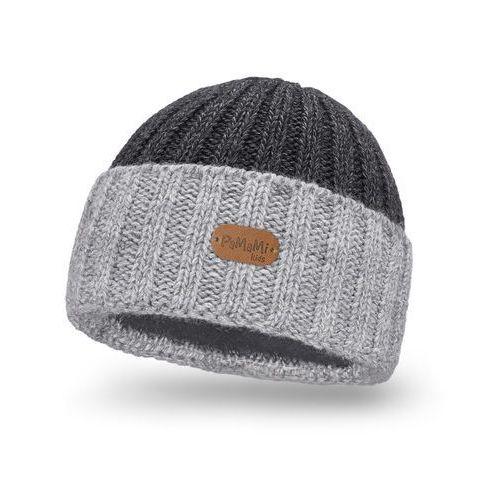 Zimowa czapka dziecięca PaMaMi- Jasnoszary - Jasnoszary