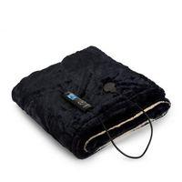 Dr. Watson SuperSoft koc elektryczny 120W 180x130 Teddy plusz beżowy/niebieski