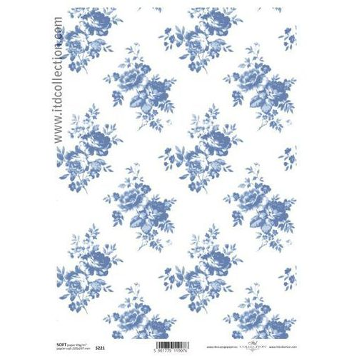 Papier do decoupage A4 ITD Soft 221 róże nieb. x1