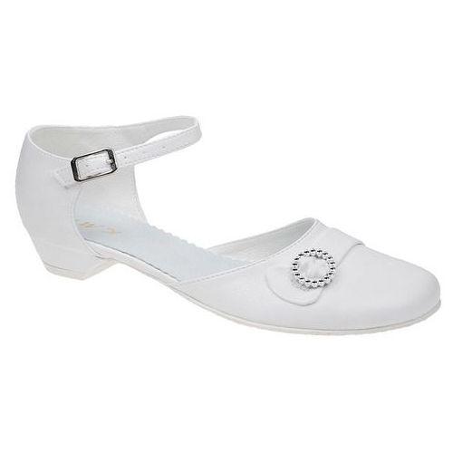 0da175b870 Kmk Pantofelki buty komunijne dla dziewczynki 42 białe - biały - fotografia