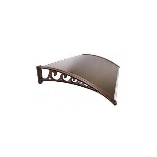 Daszek zadaszenie drzwi klasyczne 100 x 60 - brązowy marki Metal-gum